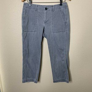 J. Jill Size 8 Stretch Gray Cropped Pants Pockets